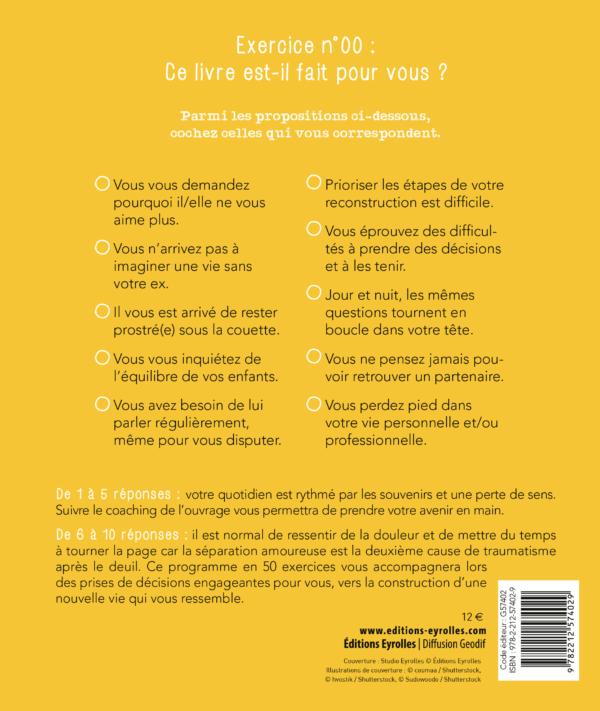 Cahier d'exercice pour surmonter sa séparation, son divorce, Editions Eyrolles