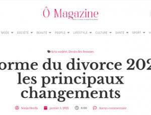 o magazine réforme du divorce